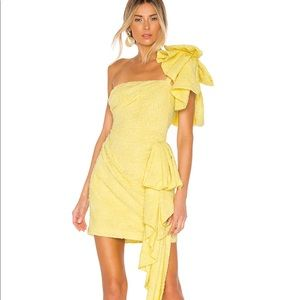 New! Guiding light Atoir dress in lemon. Revolve